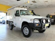 2011 Nissan Patrol GU 6 MY10 DX White Manual Single Cab Chassis Jamisontown Penrith Area Preview
