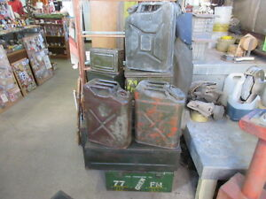 vintage ammo boxes gerry cans some world war two