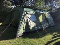Vango Samara 600 6 person tent + extra groundsheet + matching carpet.