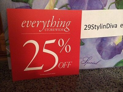 Discount Signs For Retail Store 25 Off 5.5 X 5.5 Square Shape Used
