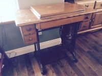 antique singer treddle sewing machine