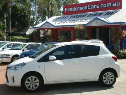 2015 Toyota Yaris NCP130R Ascent White 4 Speed Automatic Hatchback Minyama Maroochydore Area Preview