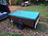 Small Car trailer Wood fixed sides 5x3