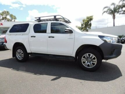 2017 Toyota Hilux GUN125R Workmate Double Cab White 6 Speed Sports Automatic Utility Oakleigh Monash Area Preview