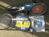 Angle grinder heavy duty with blades / cutters