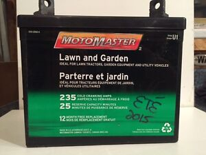 Batterie tracteur à gazon