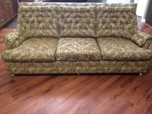 Vintage sofa and chair.