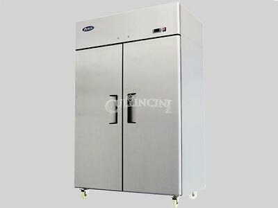 NEW Atosa Double Two Door Stainless Steel Refrigerator Commercial NSF MBF8005