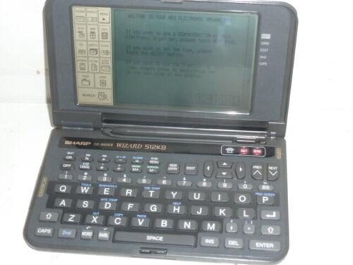 VINTAGE SHARP WIZARD 512KB MODEL OZ-9600II ELECTRONIC ORGANIZER PDA FREE SHIPPIN