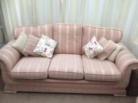 3 seater sofa, 2 armchairs and stool
