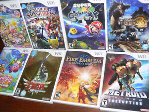 11 Wii games for sale - Zelda, Fire Emblem, Donkey Kong, Kirby