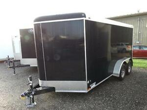 7x14 Black Enclosed Cargo Trailer with Ramp Kitchener / Waterloo Kitchener Area image 2