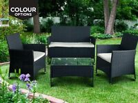 4 Piece Outdoor Garden Patio Rattan Set