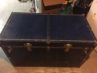 Antique Blue Trunk