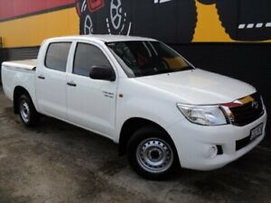 2014 Toyota Hilux GGN15R MY14 SR Double Cab 4x2 Glacier White 5 Speed Automatic Utility Melrose Park Mitcham Area Preview