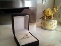 Ernest Jones Diamond Engagement /Wedding ring