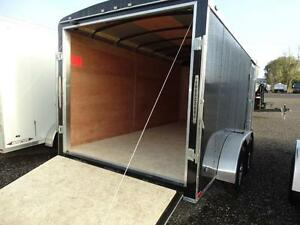 7x14 Black Enclosed Cargo Trailer with Ramp Kitchener / Waterloo Kitchener Area image 1