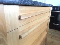 Solid oak kitchen island unit with solid granite top. Fantastic quality and excellent condition