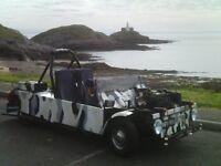 Austin Morris Mini 3 wheeler. 2 seats & belts, full MOT. Tax exempt