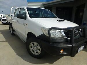 2012 Toyota Hilux KUN26R MY12 SR Double Cab Glacier White 5 Speed Manual Cab Chassis Bassendean Bassendean Area Preview