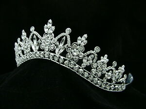 Bridal-Pageant-Rhinestone-Crystal-Prom-Wedding-Silver-Crown-Tiara-9251
