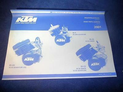 KTM Spare Parts Manual Engine 2001 50 Mini Adventure SX