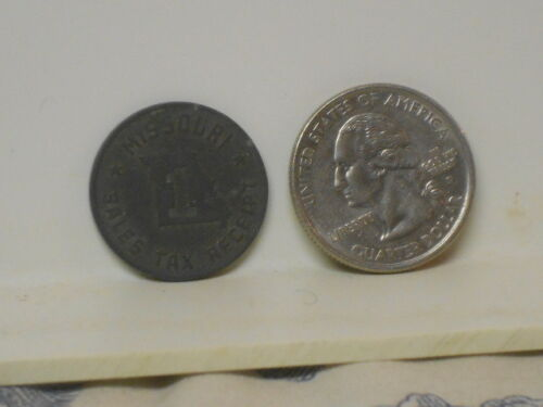 Vtg. Missouri Sales Tax Receipt Coin