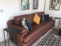 Sofa Italian Tan Leather