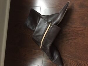 Free JCrew -All Leather (including sole), brown boot, 7.5