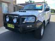 2012 Toyota Hilux KUN26R MY12 SR (4x4) White 5 Speed Manual Dual Cab Pick-up Waratah Newcastle Area Preview