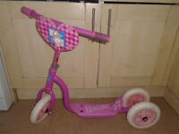 Barbie girls pink scooter-post it