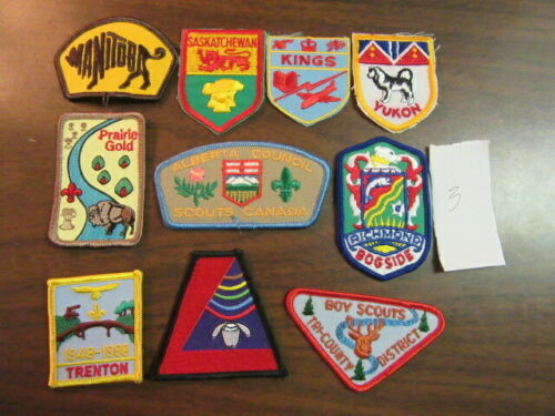 Canada Lot of 10 Different Patches    eb03  #3