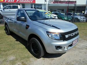 2013 Ford Ranger PX XL 4x2 Silver 6 Speed Manual Cab Chassis Kippa-ring Redcliffe Area Preview