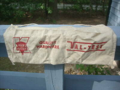 Vintage Used Advertising Keen Kutter Hardware Cloth Carpenters Nail Apron Usable