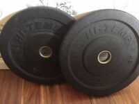 Pair of Hi-Temp 5kg bumper plates - hardly used