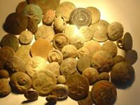 LARGE GROUP OF VICTORIAN - DATE BUTTONS DUG UP