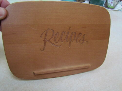 """Longaberger Large Recipe """"Recipes"""" Wooden Lid with Issues"""