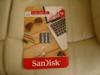 32 GB SANDISK FLASH DRIVE [BRAND NEW].