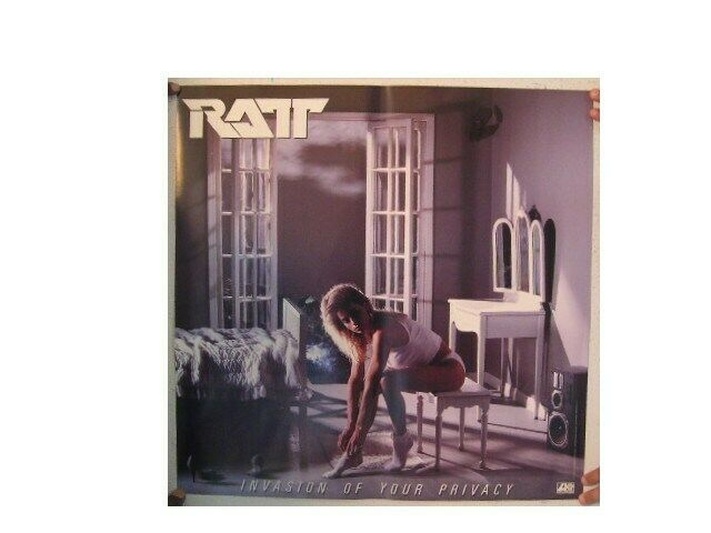 Ratt Poster  Invasion Of Your Privacy Vintage