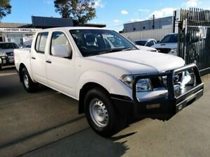 2013 Nissan Navara D40 MY13 RX (4x4) White 5 Speed Automatic Dual Cab Pick-up Lidcombe Auburn Area Preview