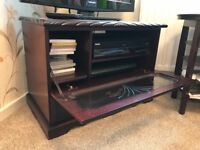 Solid Wood Mahogany Glass TV Stand/Cabinet