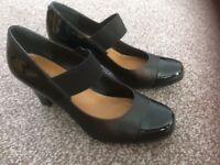 Black leather Clarks shoes
