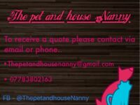 Pet and house Sitter