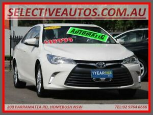 2017 Toyota Camry ASV50R MY16 Altise White 6 Speed Automatic Sedan Homebush Strathfield Area Preview