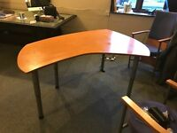 Curved Office table 4 legged