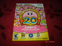 KIRBY'S DREAM COLLECTION EDITION NINTENDO WII NEUF SEALED