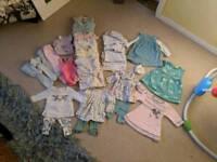 Baby girl newborn to 3 months clothes bundle