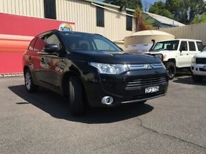 2013 Mitsubishi Outlander ZJ MY14 LS Black 6 Speed Continuous Variable Wagon Gosford Gosford Area Preview