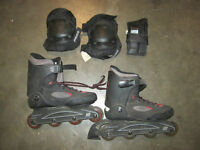 K2 Inline Skates with Knee and Elbow Pads