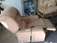 A Comfortable Beige colour Riser/Recliner Chair